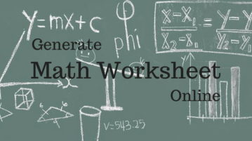 5 Online Math Worksheet Generator Websites Free