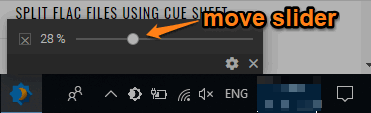 move brightness slider
