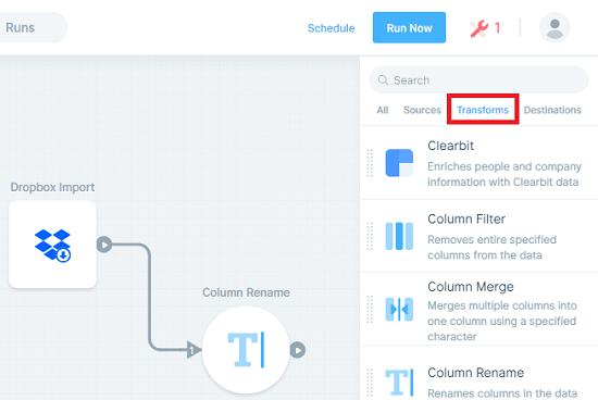 parabola io add filter to flow