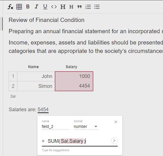 reactivepad dealing with tabular data