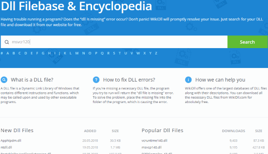search for a dll file