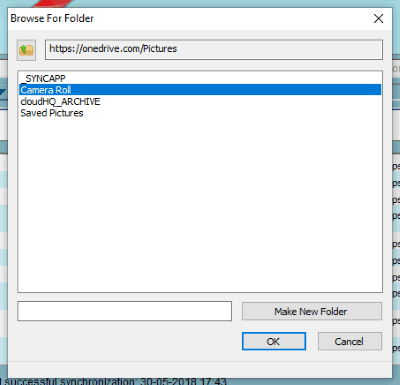 select folder to sync