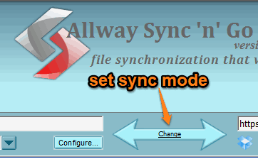 set sync mode