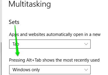 set windows only option