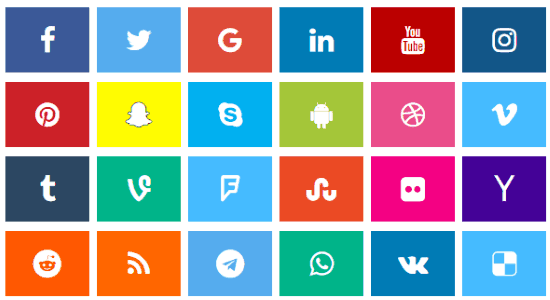 social media icon generator