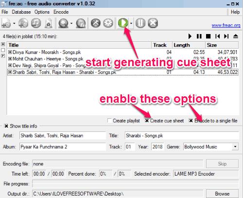 4 Free Cue Sheet Generator Software