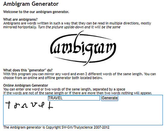 online ambigram generator free