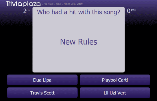 free pop music trivia quizzes