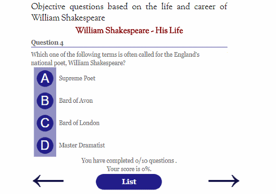 free English literature quizzes for adults