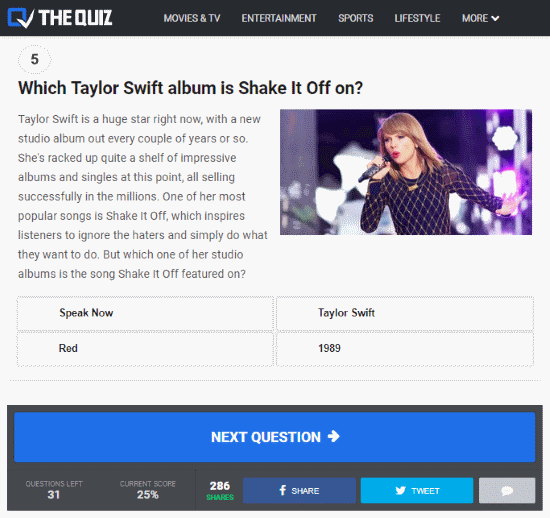 pop music quizzes