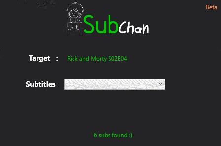 SubChan - Subtitle Downloader