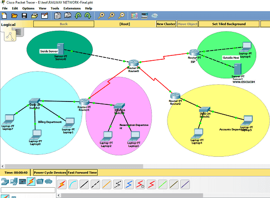 Cisco Packet Tracer in action