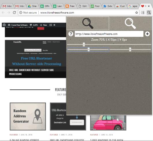 Custom Page Zoom