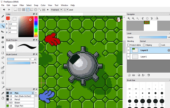 FireAlpaca free bitmap paint software for windows