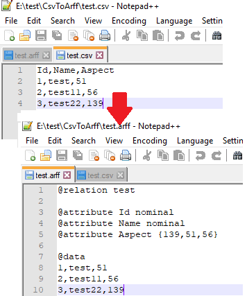 How to Convert CSV to ARFF