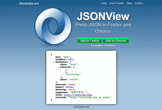 highlight JSON code in browser
