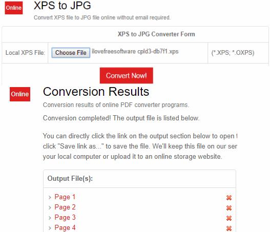 PDFConvertOnline.com XPS to JPG