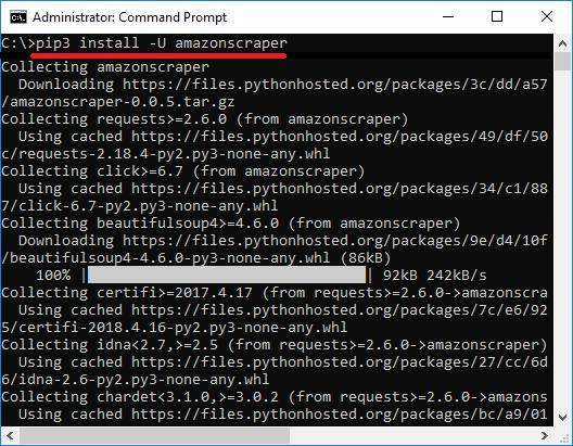 Pip install amazon scraper