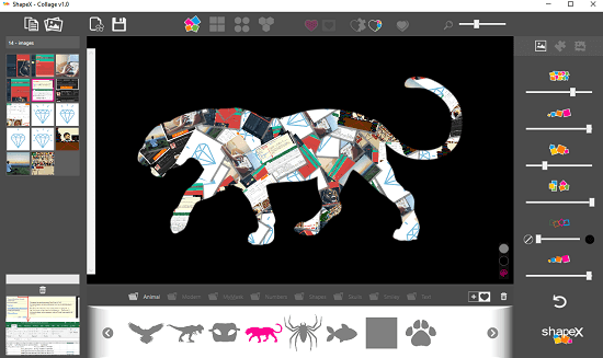 ShapeX free shape collage maker
