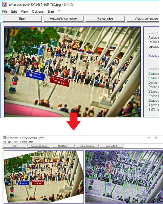 ShiftN free image perspective correction software