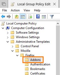 access addons folder