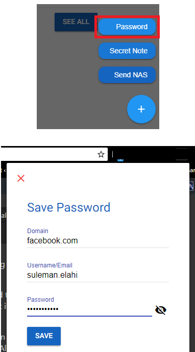 b.lock password manager add anew password