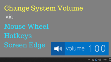 How To Change System Volume Via Mouse Wheel, HotKeys, Screen Edge
