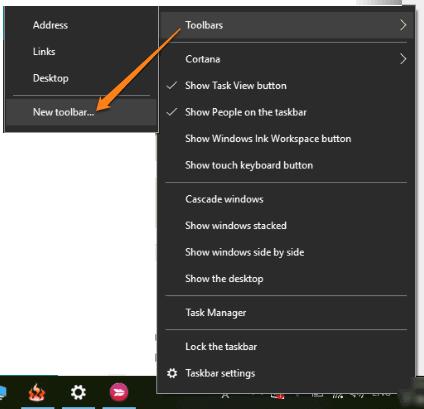 create a new toolbar
