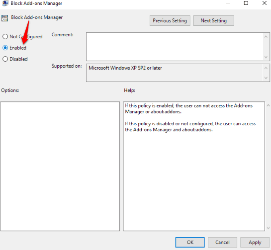 enable block add-ons manager option