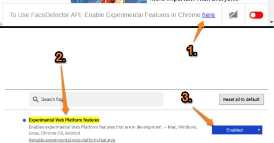 enable experimental web platform features option
