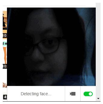 face detection popup