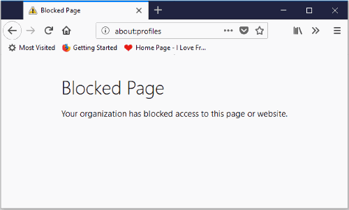 firefox profiles page disabled