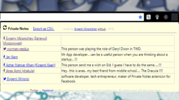 how to Write Private Notes about Facebook, Twitter Profiles in Chrome