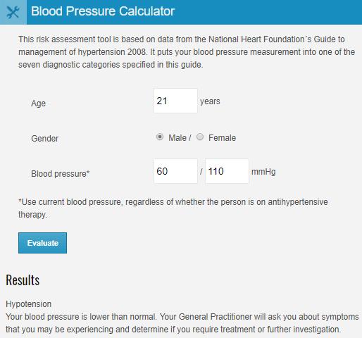 myVMC blood pressure calculator