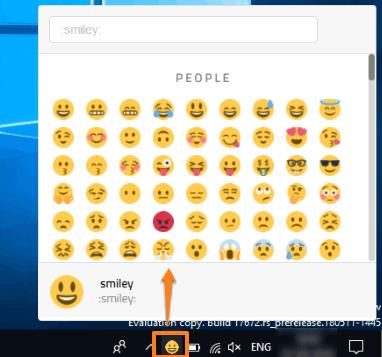 open twitter emoji panel using system tray