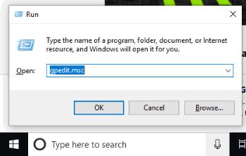 start windows gpo