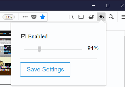 use enabled option and slider