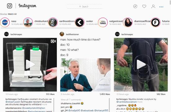 improve Instagram feeds on desktop