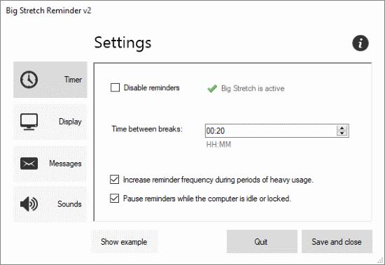 free posture reminder software for Windows