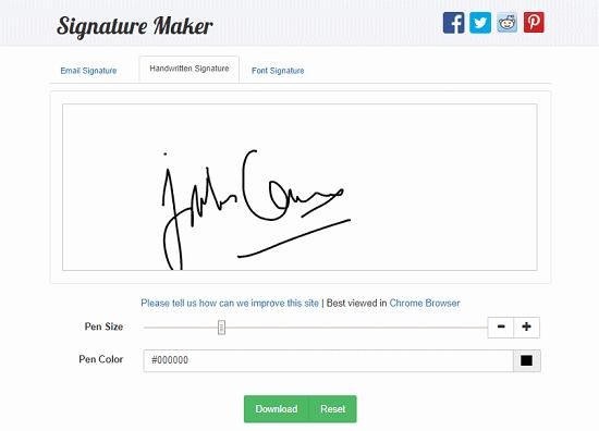 handwritten signature generator website