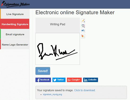 free handwritten signature generator website