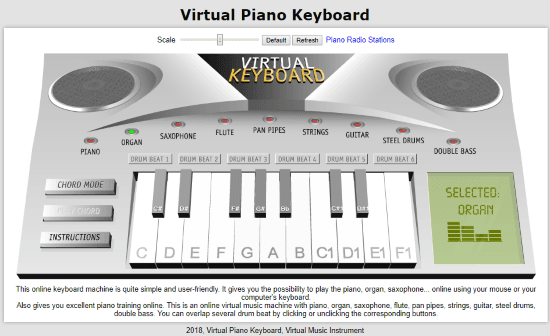 online virtual MIDI keyboard free