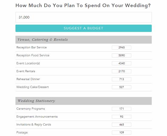 online wedding budget planner free