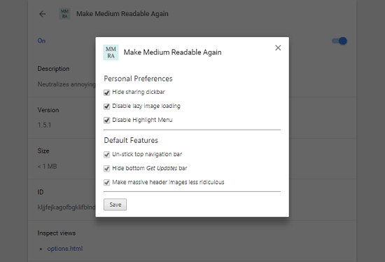 make Medium more readable