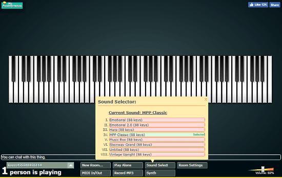 free online virtual MIDI keyboard