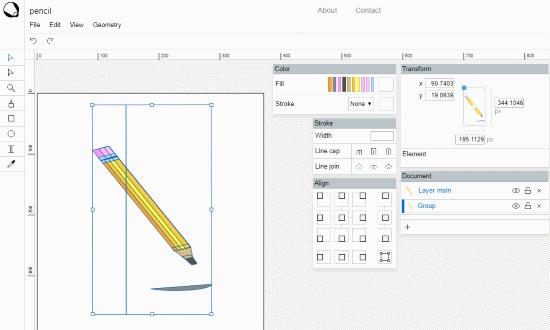 free online vector graphics editor