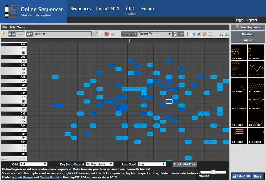 online virtual MIDI keyboard