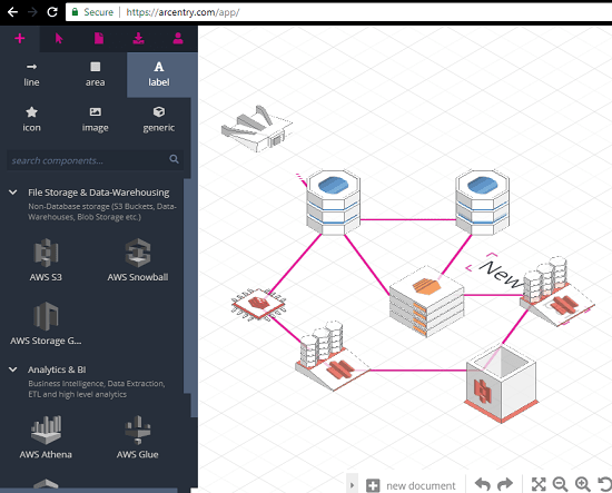 Arcentry aws cloud diagram generator free