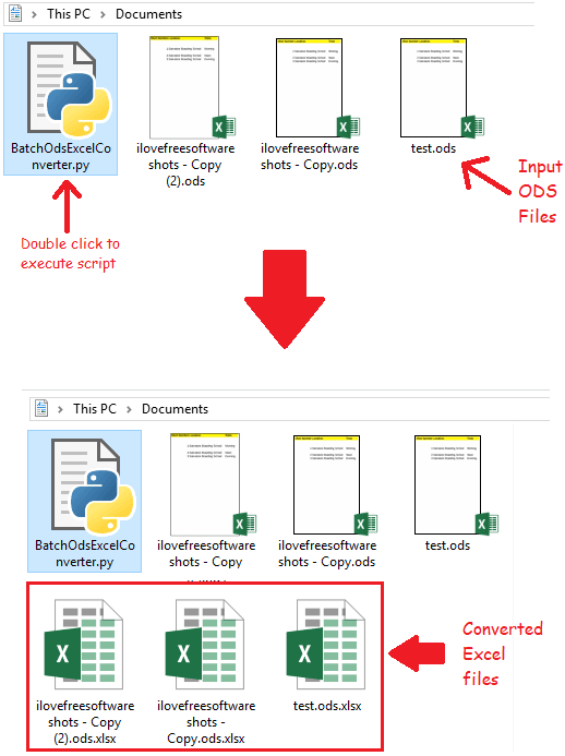 How to Bulk Convert ODS to Excel in Windows