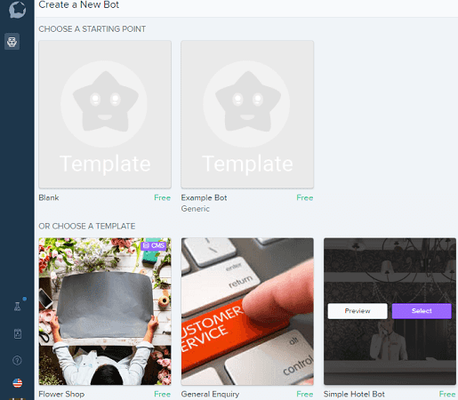 Bot templates getting started